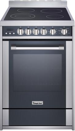Magic Chef Freestanding Oven MCSRE24S 24 2.2 cu. ft. Electric Range with Convection, Stainless Steel