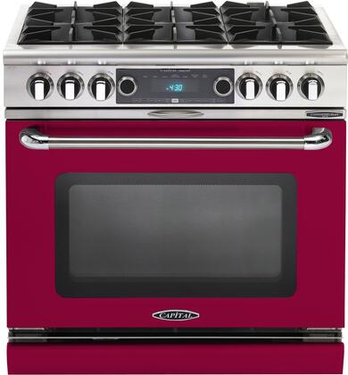 COB366CL 36 inch  Connoisseurian Series Freestanding Dual Fuel Electric Self-Cleaning Range with 4 Open Burners  4.6 Cu. Ft. Capacity  Flex Roller Racks  and
