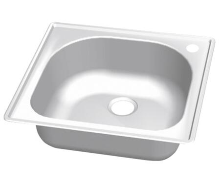 CMT2522-9DR Craftsmen Series Stainless Steel Single Bowl Topmount Sinks  Pre-Drilled Hole on