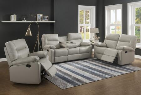 Kenzie Collection 2050-SLC-IV 3-Piece Living Room Set with Reclining Sofa  Loveseat and Recliner in