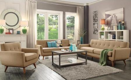 Mari Collection Em229waltauset 3 Pc Living Room Set With Sofa + Loveseat + Lounge Chair In Taupe