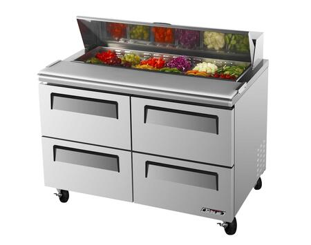 TST48SDD4 12 cu. ft. Sandwich and Salad Unit with 4 Drawers  Cold Air Compartment  Convenient Cutting Board Side Rail  Hot Gas Condensate System and Stainless
