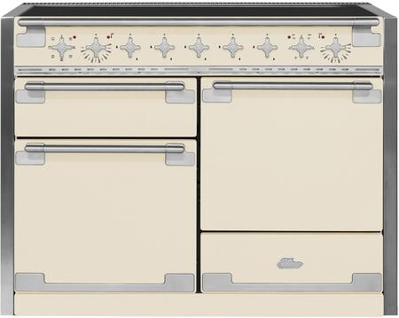 "AEL48INIVY 48"" AGA Induction Range with 6.0 cu. ft. Capacity Residual Heat Inductor Overheat Detection Child Safety Lock 9 Power Levels and Pan Detection"