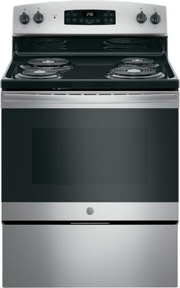 GE JB256RMSS 5.0 Cu. Ft. Stainless Freestanding Electric Range