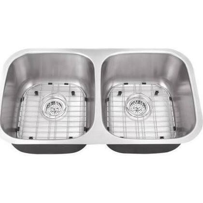 SC505016 All-in-One Undermount Stainless Steel 30x17x9 0-Hole Double Bowl Kitchen