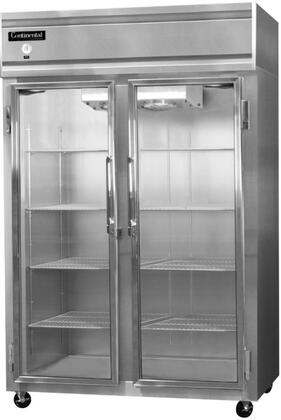 2R-GD 52 inch  Commercial Reach-In Glass Door Refrigerator with 48 cu. ft. Capacity and 2