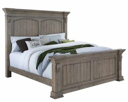 Everly B651-94-95-78 King Bed with Headboard  Footboard and Side Rails in