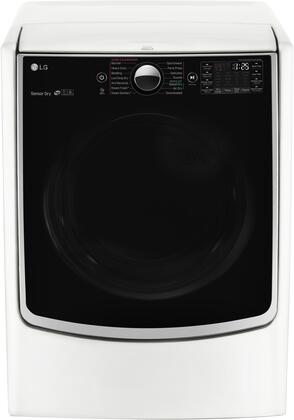 LG DLGX5001W TurboSteam 7.4 Cu. Ft. White Stackable With Steam Cycle Gas Dryer Energy Star