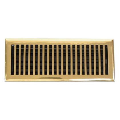 116E PLB Contemporary Series Solid Brass Decorative Floor Register Vent In Polished Brass