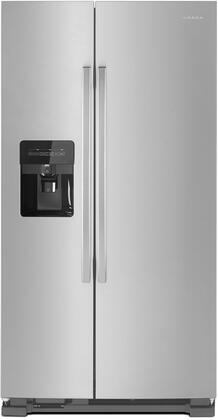 ASI2575GRS 36 inch  Freestanding Side-by-Side Refrigerator with 24.57 cu. ft. Total Capacity  External Ice and Water Dispenser  3 Interior Refrigerator Shelves  and