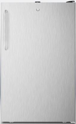 FF521BLBISSTBADA 20 inch  AccuCold Series ADA Compliant Medical Freestanding or Built In Compact Refrigerator with 4.1 cu. ft. Capacity  Adjustable Glass Shelves