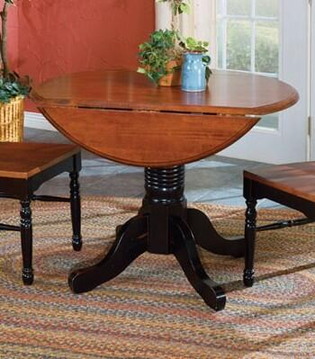 BRIOB6100 British Isles 42 inch  Dropleaf Table with Wood on Wood Glides  20% NC Top Coat Sheen and Solid Hardwood Construction in