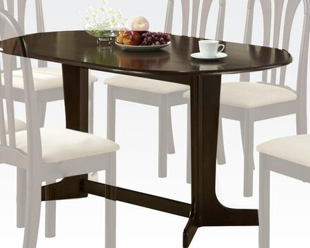 Stockholm Collection 02190TE 59 inch  Rectangular Dining Table with Waterfall Top  Double Leg Fix  Trestle Pedestal Base and Okume Veneer Materials in Espresso
