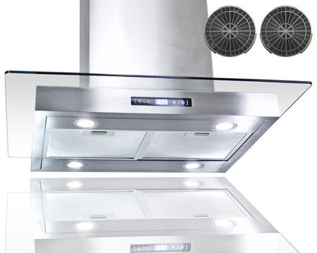 GIRCI30 30 inch  Island Mount Range with 870 CFM  65 dB  Innovative Touch  LED Lighting  3 Fan Speed  Aluminum Grease Filter and Ductless: