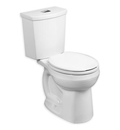 2889.218.020 H2Option Round Front 0.92/1.28 gpf Toilet with EverClean Antimicrobial Surface  Dual Flush  Chrome Plated Top and PowerWash Siphon Jet Bowl