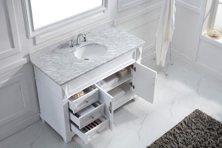 MS-2648-WMRO-GR-002 Transitional 48 Single Sink Bathroom Vanity Set Grey w/Polished Chrome