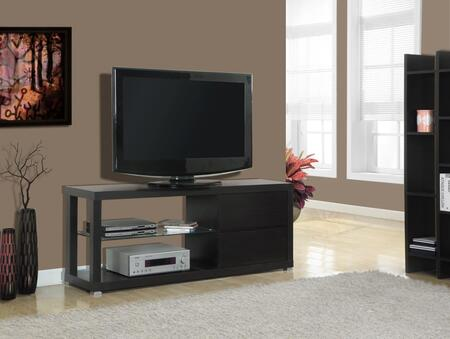 "I 2581 TV Stand - 60""""L / Cappuccino with Tempered"" 502010"