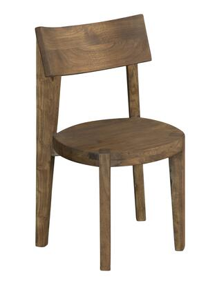 75357 34 inch  Dining Chair with Round Seat  Tapered Legs and Curved Back in Sequoia Light Brown