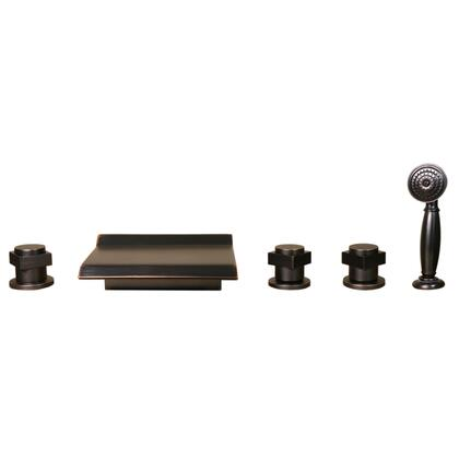 049orb Oil Rubbed Bronze Finish Waterfall Bathroom Tub Faucet 5pcs Bathtub Mixer