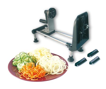 4100CLR  inch Le Gourmet inch  Turning Slicer with One Flat Blade and Three Interchangeable Multi-blade