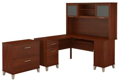 Somerset WC81730K-31-80 2-Piece Desk and Hutch Set with Lateral File Cabinet in Hansen