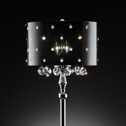 Bronte L95120T Table Lamp with Crystal Lamp  Metal Base  Shade size: 16