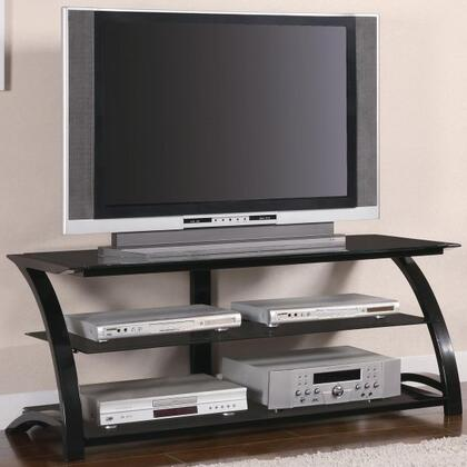700664 Coaster TV Stands Contemporary Metal and Glass Media