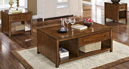 3071110CEE Contempo 3 Piece Occasional Table Set with Cocktail Table  End Table and Chairside End Table  in Burnished