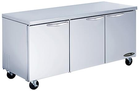KUCF723 72 inch  Undercounter Freezer with 19.6 cu. ft. Capacity  3 Doors  6 Shelves  1/2 HP  in Stainless