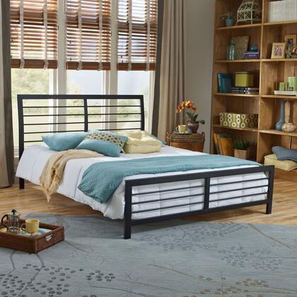 Tiffany Collection MFP01853DB Double Size Platform Bed with Metal Frame and Modern Style in Dark
