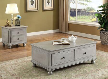 Vidar Collection 84550CE 2 PC Living Room Table Set with 48