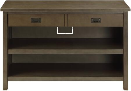 Asteris Collection 90177 47 inch  Console Table with 1 Drawer  2 Open Compartments  Cord Management  Double Handle Hardware and Engineered Wood Construction in