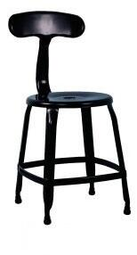 8036-SC-BLK Stackable Indoor and Outdoor Galvanized Steel Side Chair in