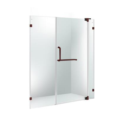 VG6042ARBCL66 VIGO Pirouette 66-inch Frameless Shower Door 3/8 inch  Clear Glass/Antique Rubbed Bronze