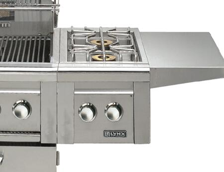 LCB1-2-NG Professional Grill Series 15 000 BTU Natural Gas Single Side-Burner for Cart Mounted Application: Stainless Steel (Image shown is not