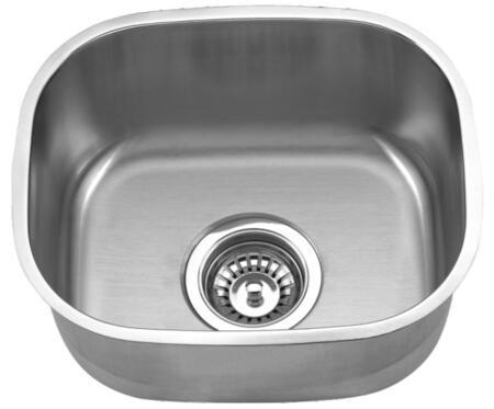 CMU1518-7 Wells CMU1518-7 16 inch Single Bowl Undermount 18 Gauge Stainless Steel Bar