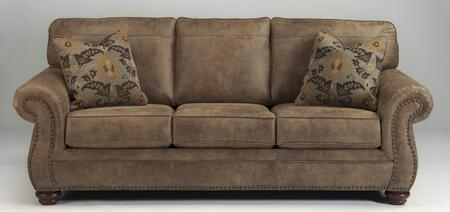 Larkinhurst Collection 3190138 89 Sofa With Faux Leather Upholstery  Nail Head Accents  Rolled Arms And Traditional Style In