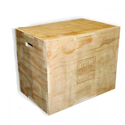XM-100-WBOX 3-in-1 Wood Plyo Box in Unfinished Russian