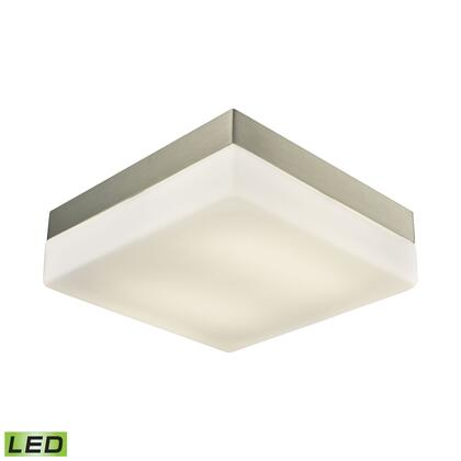 FML2030-10-16M Wyngate 2 Light Square LED Flushmount In Satin Nickel And Opal Glass -