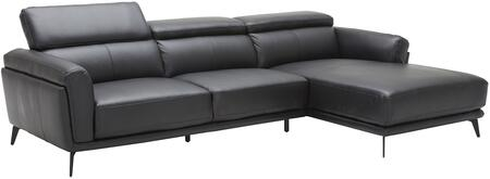 EK-LK385 Collection EK-LK385L-BK 2-Piece Sectional Sofa with Left Arm Facing Sofa and Right Arm Facing Chaise in