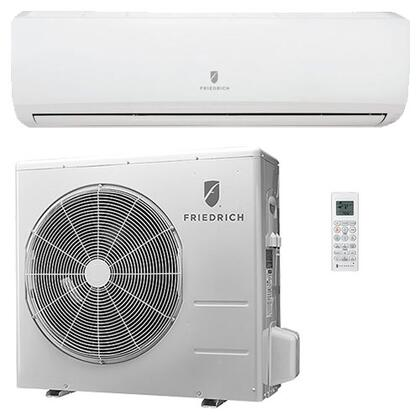 M24YJ Single Zone Ductless Split System with 22 000 BTU Cooling Capacity  27 600 BTU Heat Pump  Inverter Technology  4-Way Auto Swing  21.0 SEER  12.5 EER  and