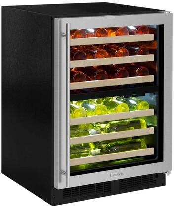 Marvel ML24WDG3RS 24 Dual Zone Wine Cellar, stainless steel frame glass door, right hinge