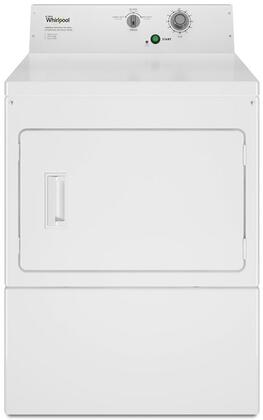 "CEM2795FQ 27"" Commercial Non-Coin Electric Dryer with 7.4 cu. ft. Capacity  Galvanized Steel Cabinet  Side Swing Door  in"