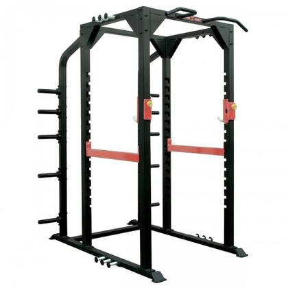XM-400-PRACK-F Commercial Power Rack with Easy Spring Pin Adjustment  3 Sets of Heavy Pins  and Chin Up Bars  in
