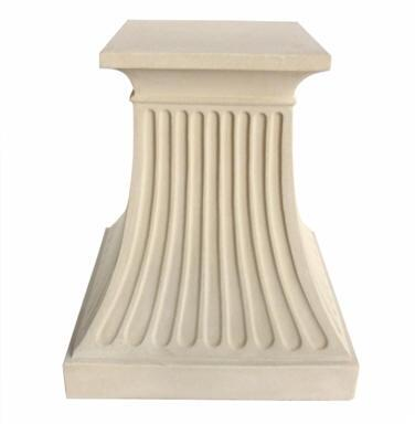 Fluted Collection TB-2428 29 Pedestal with Classic Theme and Solid Limestone Construction in Natural Beige