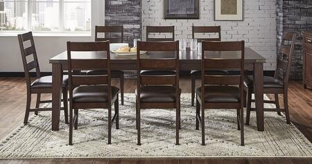 Carter Collection CTRRTDT8SC 9-Piece Dining Room Set with Rectangular Dining Table and 8x Side Chairs in Rich