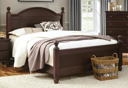 Carolina Craftsman Collection 527840-3-529400 Full Size Panel Bed with Panel Headboard & Footboard  Molding Details and Wood Rails with Slats in