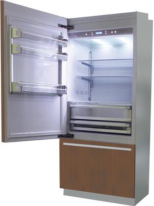BI36B-LO 36 inch  Brilliance Series Built In Bottom Freezer Refrigerator with TriMode  TotalNoFrost  3 Evenlift Shelves  Door Storage  LED Lighting and Left Hinge: