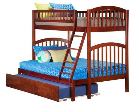 Richland AB64254 Twin Over Full Bunk Bed With Urban Trundle Bed In Antique