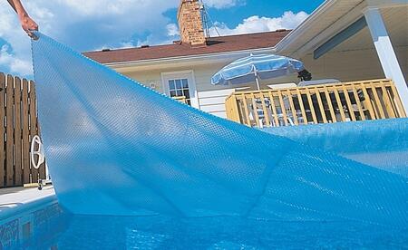 NS460 30' x 50' Rectangular In-Ground Solar Blanket in